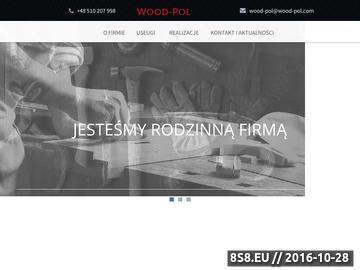 Zrzut strony WOOD-POL produkcja schodów drewnianych