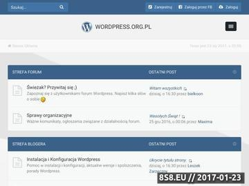 Zrzut strony Wordpress forum