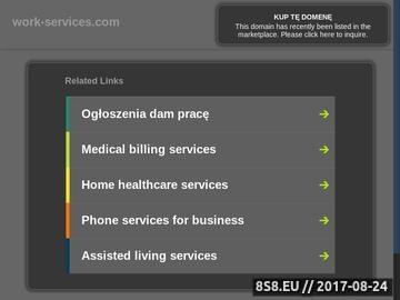 Zrzut strony Ogłoszenia w sieci, katalog firm - różne branże - praca, usługi oraz inne