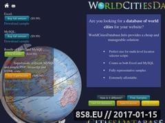 Thumbnail of World Cities Database - Excel and MySQL Website