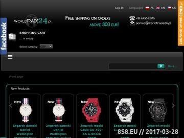 Zrzut strony Sklep z zegarki, biżuteria - Casio, Timex, Adidas, Swiss