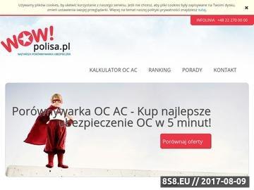 Zrzut strony OC Kalkulator - Wowpolisa
