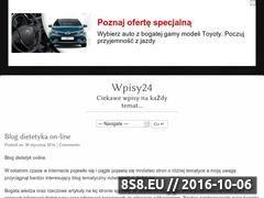 Miniaturka domeny www.wpisy24.cba.pl
