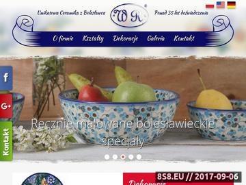 Zrzut strony WR CERAMIKA artykuły ozdobne