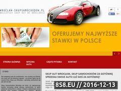 Miniaturka domeny wroclaw-skupsamochodow.pl