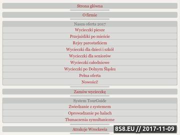 Zrzut strony Przewodnicy po Wrocławiu