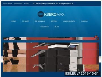 Zrzut strony Dzierżawa urządzeń biurowych