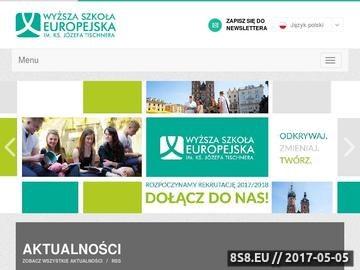 Zrzut strony Anglistyka Kraków WSE