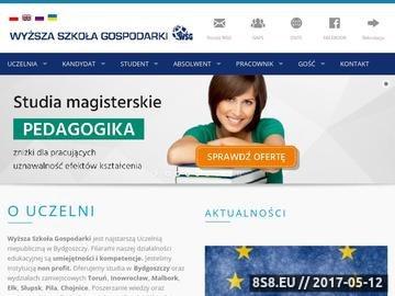 Zrzut strony Wyższa Szkoła Gospodarki w Bydgoszczy - największa niepubliczna uczelnia