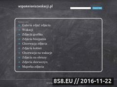 Miniaturka domeny www.wspomnieniazwakacji.pl