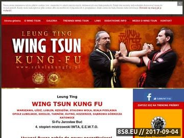 Zrzut strony WING TSUN KUNG FU