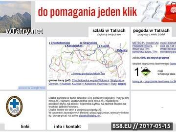 Zrzut strony WTatry.net - szlaki i pogoda w Tatrach