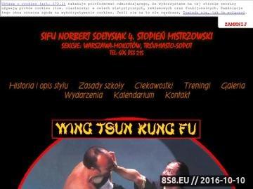 Zrzut strony Wing tsun