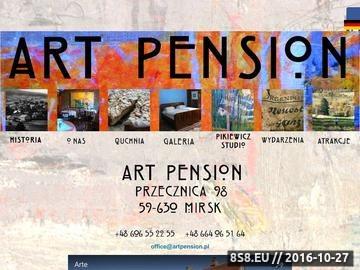 Zrzut strony ART PENSION w górach Izerskich. Noclegi, plenery malarskie, galeria sztuki.