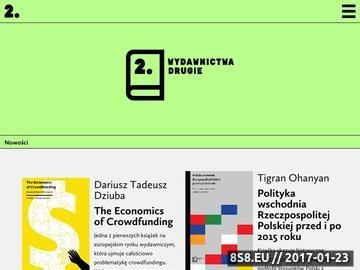 Zrzut strony Publikacje naukowe i artystyczne
