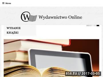 Zrzut strony Wydanie książki, wydanie e-booka, korekta, projekt, skład i druk