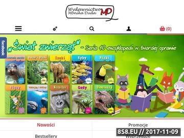 Zrzut strony Wydawnictwo MD - książki dla dzieci, kolorowanki oraz encyklopedie dla dzieci