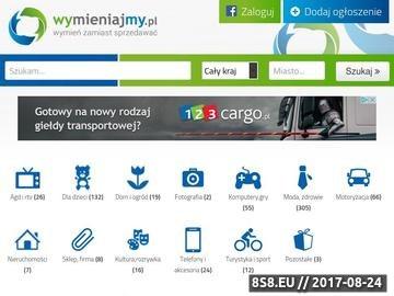 Zrzut strony Portal z wymianami online