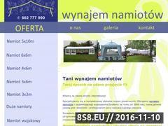 Miniaturka domeny www.wynajem-namiotow.com