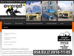 Miniaturka domeny www.wynajempodestow.pl