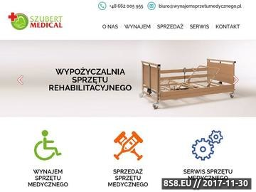 Zrzut strony Wynajem sprzętu medycznego Szubert Medical