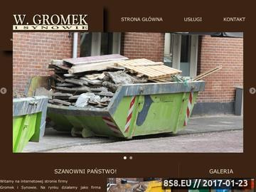 Zrzut strony Kontenery na gruz Warszawa