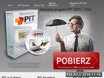 Zrzut strony PIT PROJEKT - program do wypełniania pitów