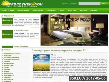 Zrzut strony Wypoczynek4you.pl - Noclegi, hotele, pensjonaty, na mazurach oraz w Polsce.