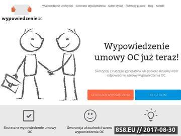 Zrzut strony Wypowiedzenie OC - wypowiadamy-oc.pl
