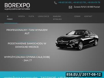 Zrzut strony Wynajem samochodów Borexpo
