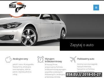 Zrzut strony Wypożyczalnia samochodów Mila - Katowice
