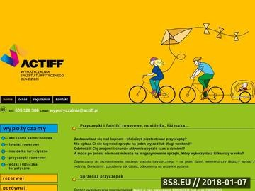 Zrzut strony ACTIFF - wypożyczalnia sprzętu turystycznego dla dzieci w Krakowie