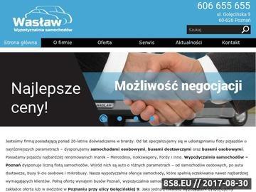 Zrzut strony Wasław - wypożyczalnia samochodów dostawczych Poznań