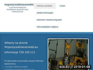 Zrzut strony Wypozyczalnianarzedzi.eu - elektronarzedzia i narzedzia budowlane oraz ogrodnicze
