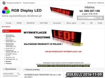 Zrzut strony Reklama LED, wyświetlacze LED i telebimy LED - RGB Display LED