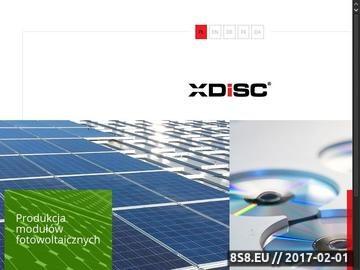 Zrzut strony XDISC tłoczenie płyt Warszawa