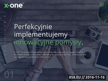 Zrzut strony Dedykowane systemy informatyczne X One