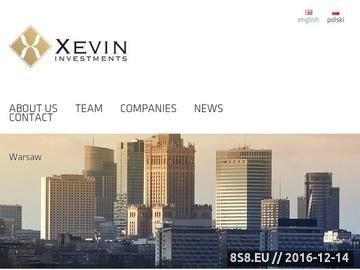 Zrzut strony Xevin Investments - fundusz venture capital