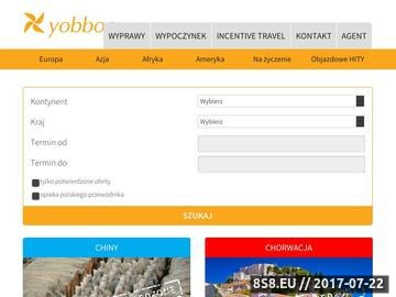 Zrzut strony Biuro Podróży Yobboo