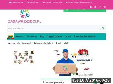 Zrzut strony Internetowy sklep z zabawkami