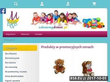 Zrzut strony Zabawki dla dzieci