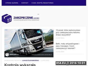 Zrzut strony Zabezpieczenie ładunku w transporcie
