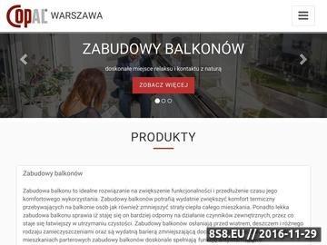 Zrzut strony Zabudowy Tarasów - zabudowy balkonu - COPAL sp. z o. o.
