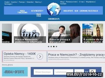 Zrzut strony Oferty pracy za granicą, pomoc i porady