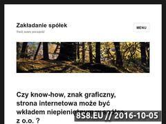 Miniaturka domeny zakladanie-spolek.com.pl