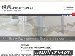 Miniaturka domeny www.zakladkamieniarski-ciechanow.pl