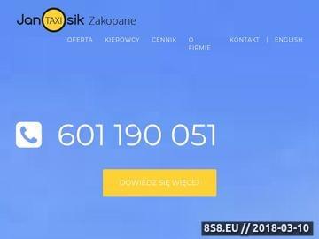 Zrzut strony Taxi Zakopane