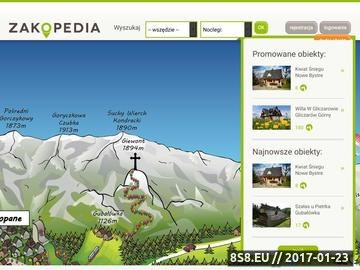 Zrzut strony Zakopedia.pl - noclegi Podhale