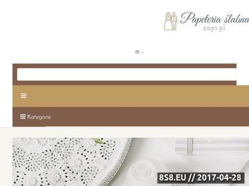 Zrzut strony Papeteria i akcesoria ślubne
