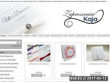 Zrzut strony Eleganckie Zaproszenia Ślubne KAJA